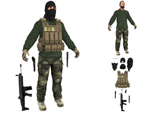 mercenary terrorist model