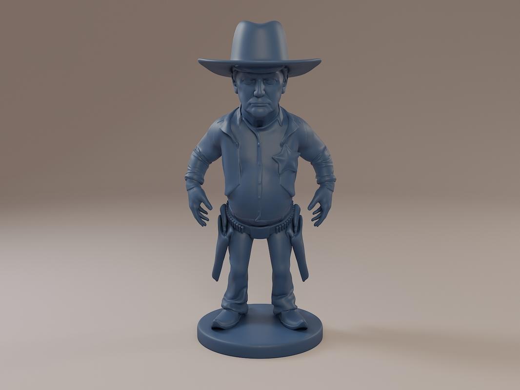 donald trump cowboy 3D model