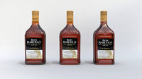 3D Barcelo alcohol Bottle Low-poly