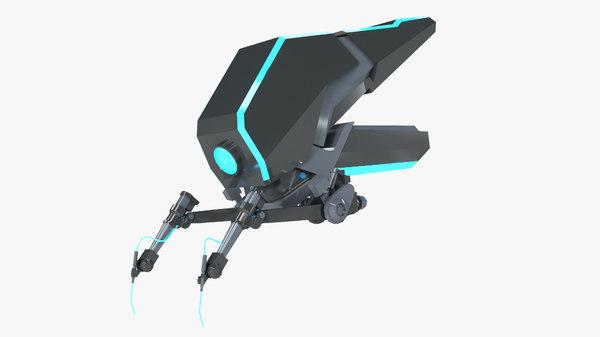 futuristic drone 3D