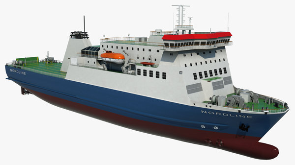 3D model passenger ferry nordline vessel ship