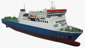 3D model passenger ferry nordline vessel ship