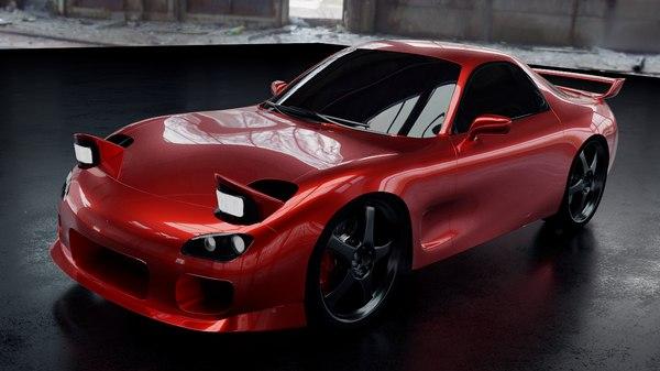 3D rx-7 model