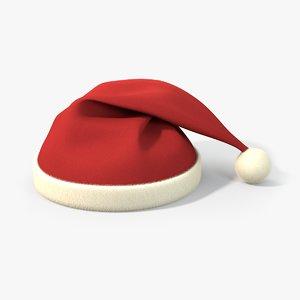 3D santa claus hat