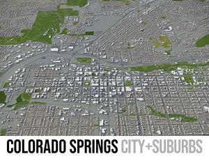 3D model city colorado springs surrounding