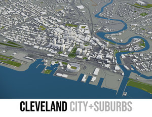 city cleveland surrounding area 3D model