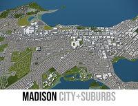 city madison surrounding area model