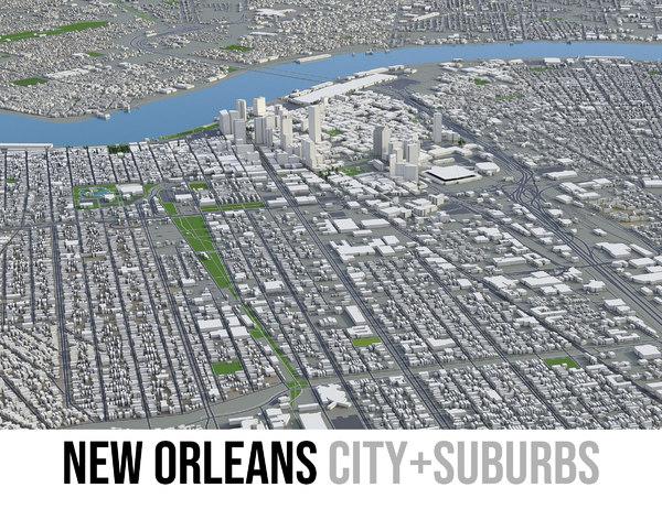 3D city new orleans area