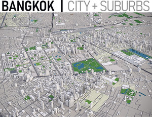 city area bangkok 3D model