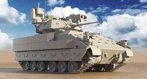bradley m2a3 tank uvw 3D model