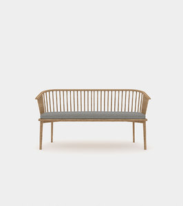 3D classic wood bench struts model
