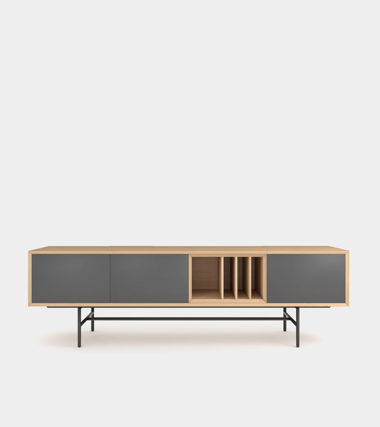 3D clean modern sideboard wood frame
