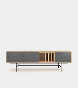 3D clean modern sideboard wood frame