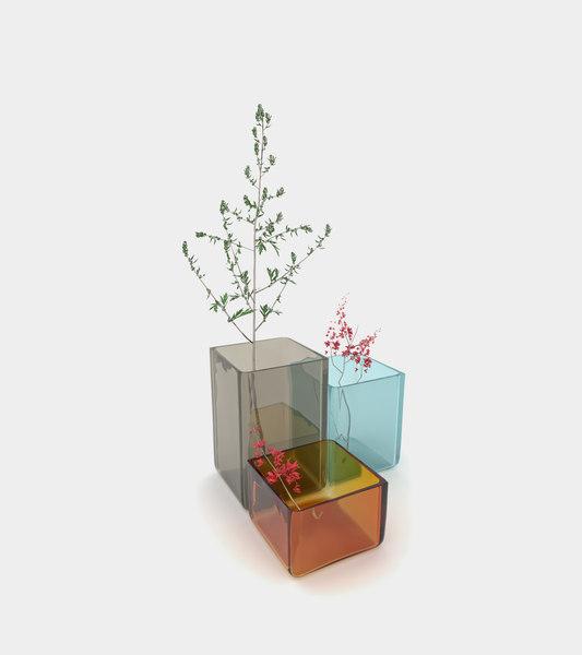 vases plants decoration modelled 3D model