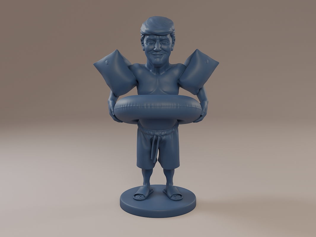 donald trump swimmingpool swimming 3D model