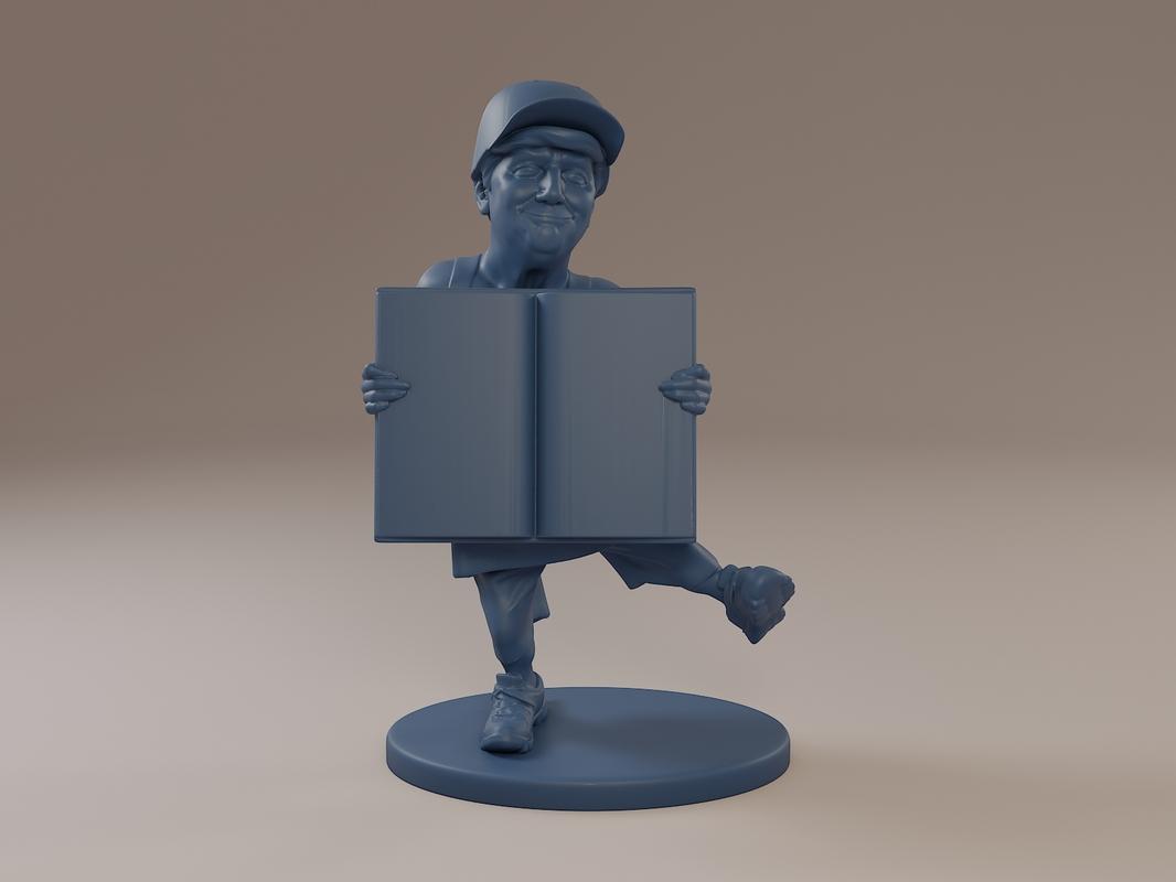 donald trump book 3D model
