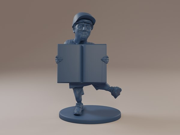 donald trump book 3D model