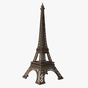 3D eiffel tower low-poly