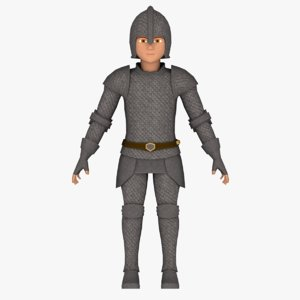 3D fantasy medieval young male model