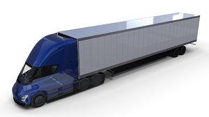 3D tesla semi truck interior