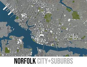 3D city surrounding area - model