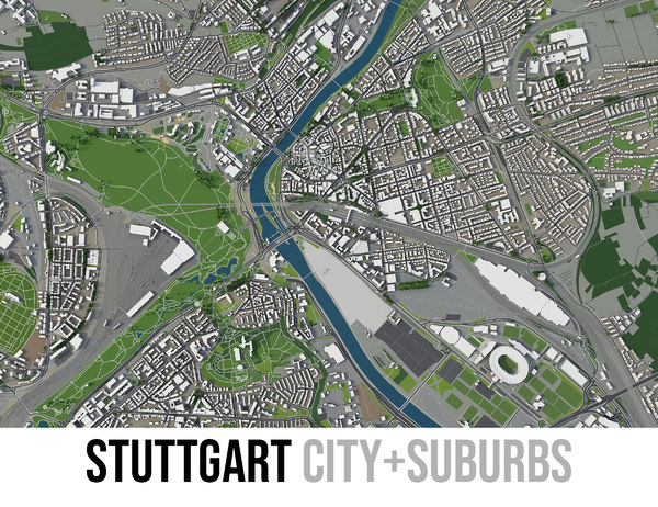 city oklahoma surrounding area 3D model
