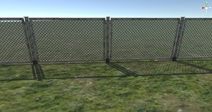 chain link fence 3D