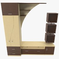 3D model furniture wardrobe tv