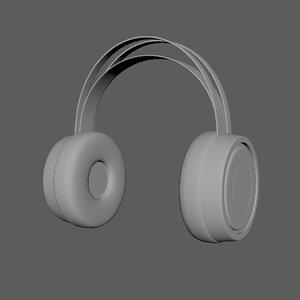 wireless headset 3D model