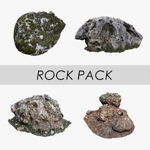 3D model rock pack