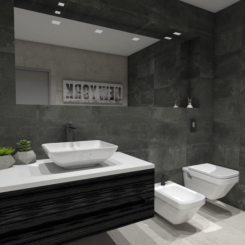 Modelo Cuarto De Baño Moderno