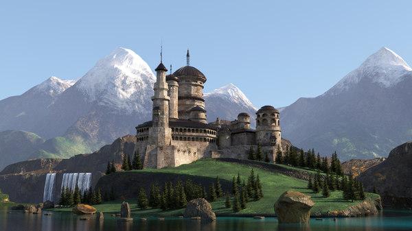 medieval fantasy citadel model