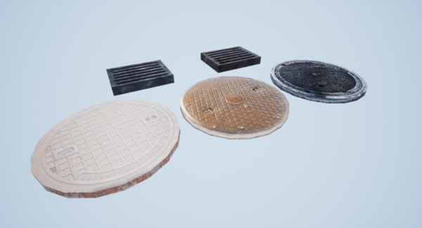 3D pack manhole grating model