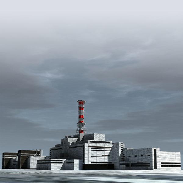3D model rbmk-1000 nuclear power plant