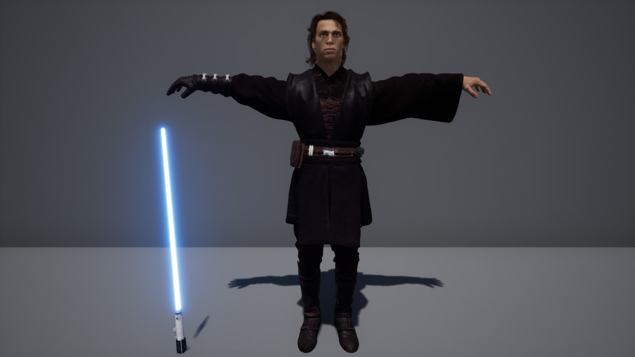 3D star wars 2 anakin