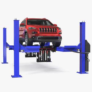 3D 4 post car lift