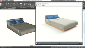 medium bed autocad model