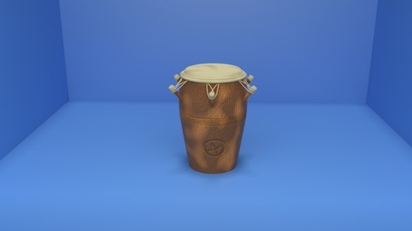 conga drum musical african 3D