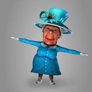 elizabeth queen 3D model