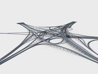 Highway Viaduct flyover 3D model-4 3D model