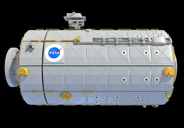 3D model iss international space station