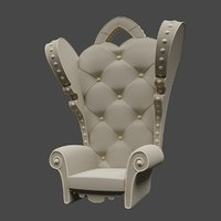 quilted seat 3D model