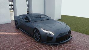 3D model car blender eevee brandless