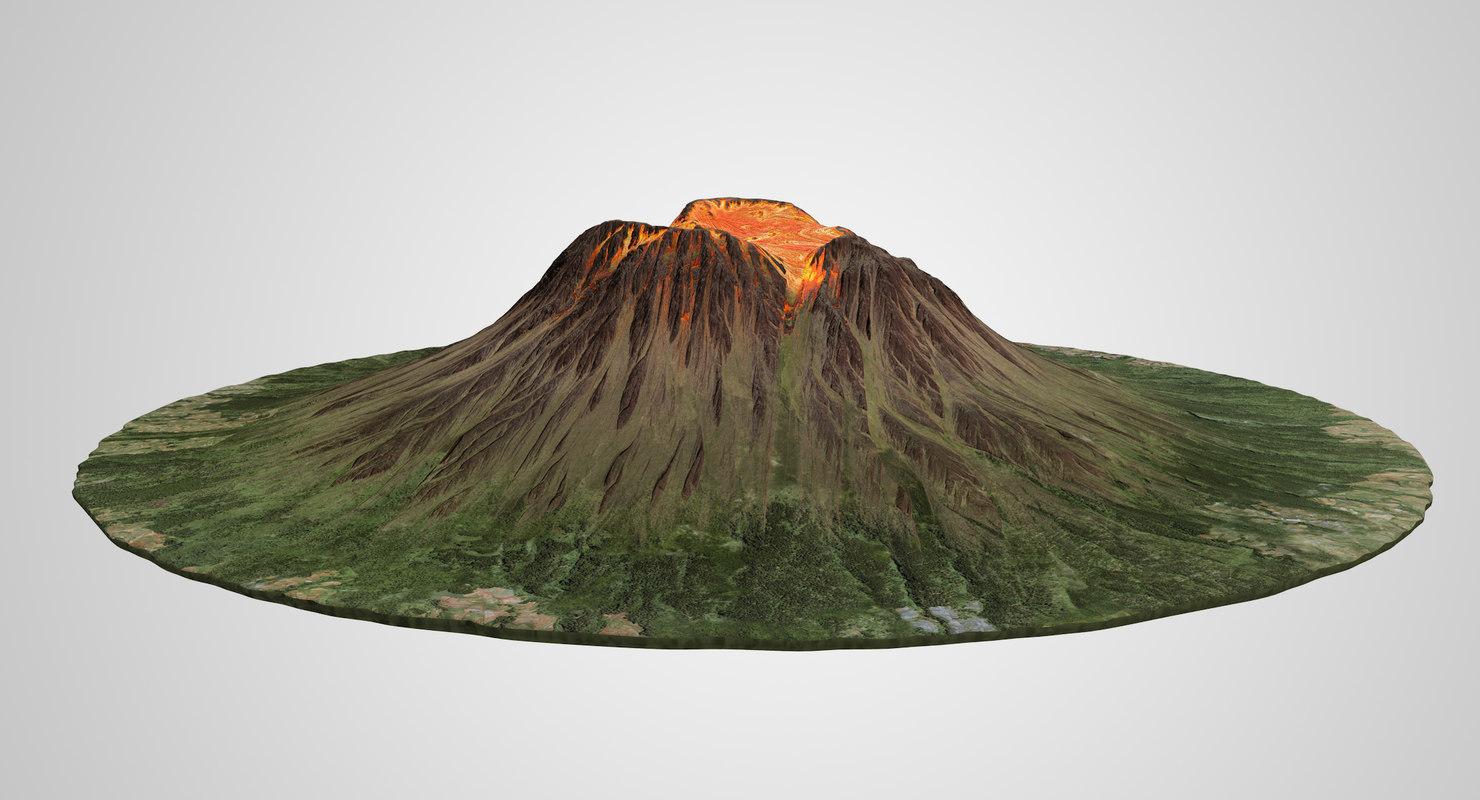 volcano lava model