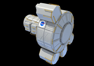 quest joint airlock module 3D model