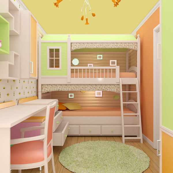 3D children room model