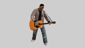 3D t-vice guitar player vr