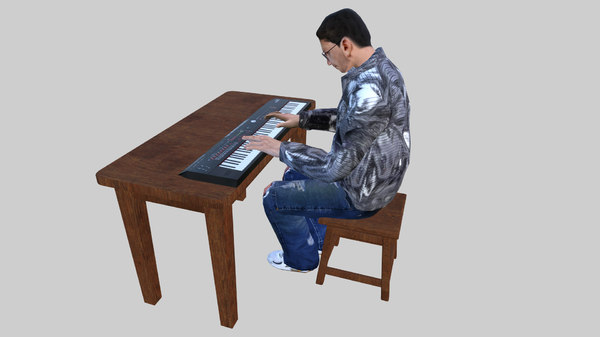 piano keyboard player vr model