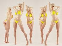 Sexy Girl Female 3D model