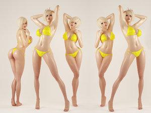3D female sexy girl model